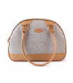 Sac de Transport Chiné Beige et Simili Cuir Beige Record