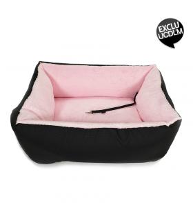 Siège Auto Car Bed Noir et Rose O lala Pets