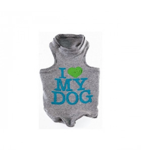 Débardeur I LOVE MY DOG Silicone Pop