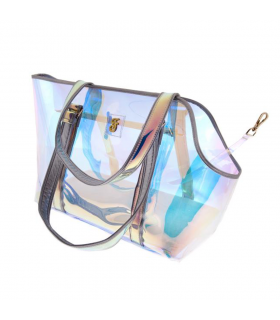 T1056 Sac Transparent Irisé Rainbow Ferribiella