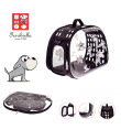 T1054 -DOG Sac Transparent Motif Chien Pliable Ferribiella