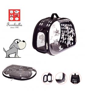 T1054 -DOG Sac Transparent Motif Chien Pliable Ferribiella