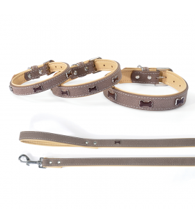 DC027 Collier en simili cuir Brown Timber Camon