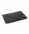 Tapis Moelleux Double Face Plain Mat Marron Pois Turquoise O lalapets A57